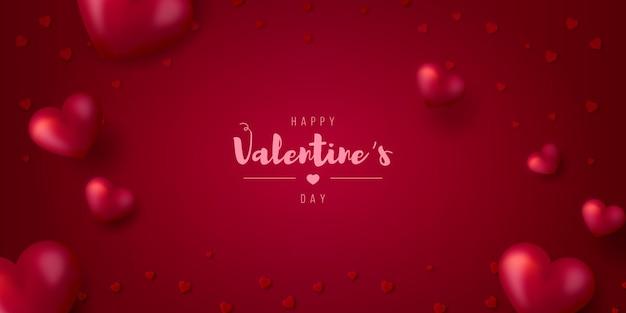 Carte De Saint Valentin Réaliste Vecteur gratuit