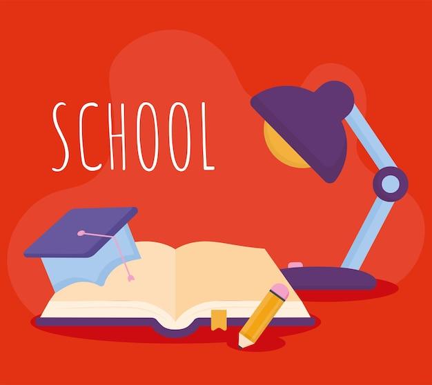 Carte scolaire rouge
