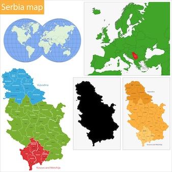 Carte de la serbie