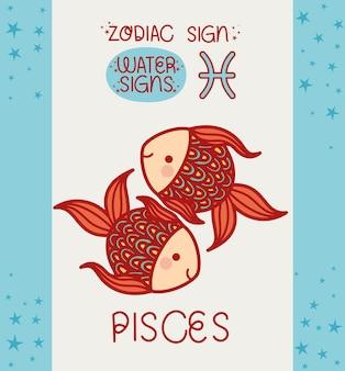 Carte de signe de poissons