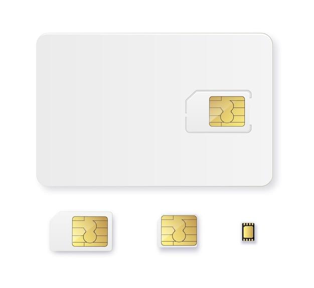 Carte sim objet réaliste icône vecteur carte sim isolé d design gsm