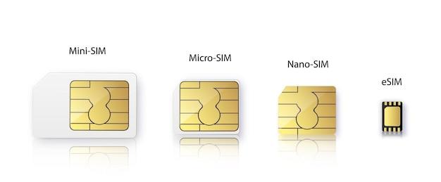 Carte sim puce de communication cellulaire sans fil gsm puce électronique et puce de télécommunication ...