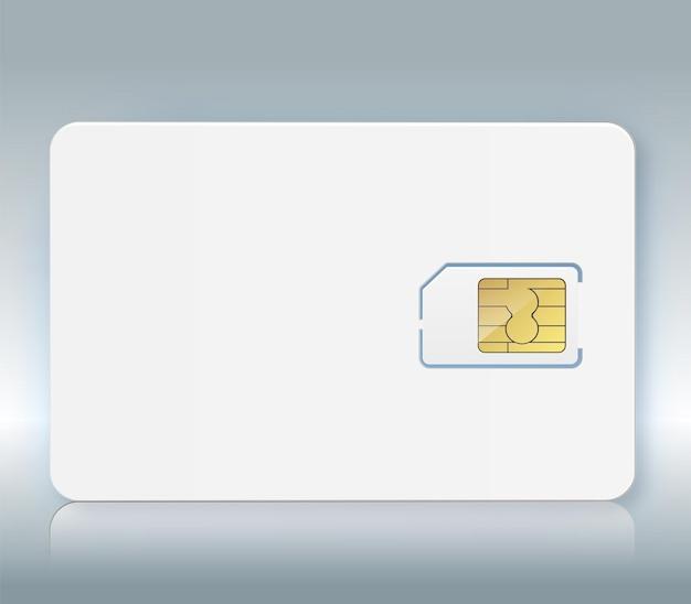 Carte sim vecteur icône de téléphone portable puce carte sim isolée d conception gsm carte sim mobile telecommunicati...