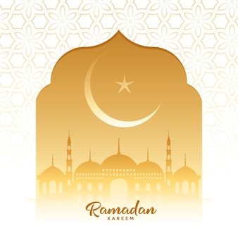 Carte de souhaits traditionnels de la saison des festivals de ramadan kareem