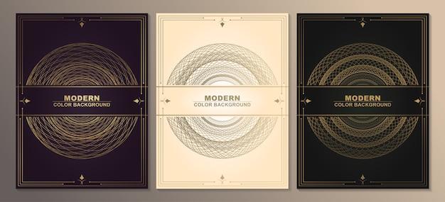 Carte De Souhaits Vintage Or Sur Fond Noir. Vecteur Premium
