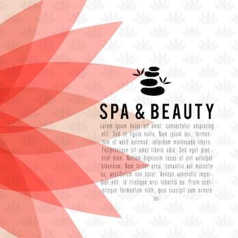 Carte de spa et de beauté avec un vecteur de design élégant