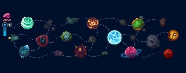 Carte spatiale pour le jeu