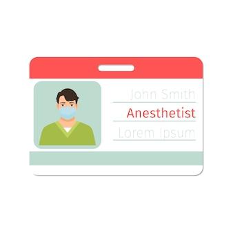 Carte de spécialiste en anesthésiste