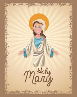 Carte spirituelle sainte marie