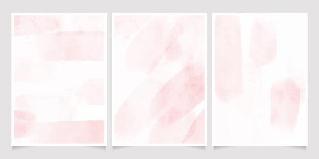 Carte de splash de lavage humide aquarelle rose