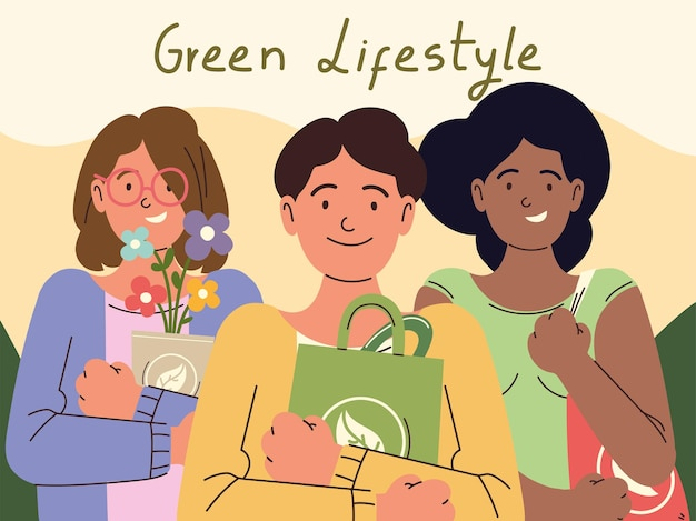 Carte de style de vie vert