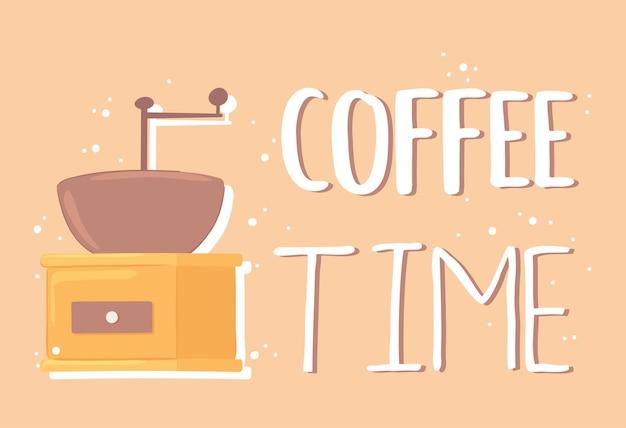 Carte de temps de café