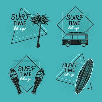 Carte de temps de surf