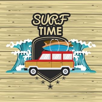 Carte de temps de surf
