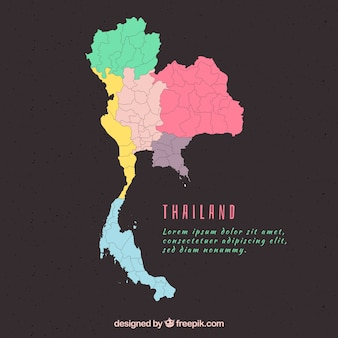 Carte de la thaïlande avec les provinces
