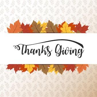 Carte de thanksgiving heureux, arrière-plan, affiche