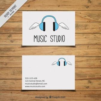 Carte tirée par la main pour un studio de musique