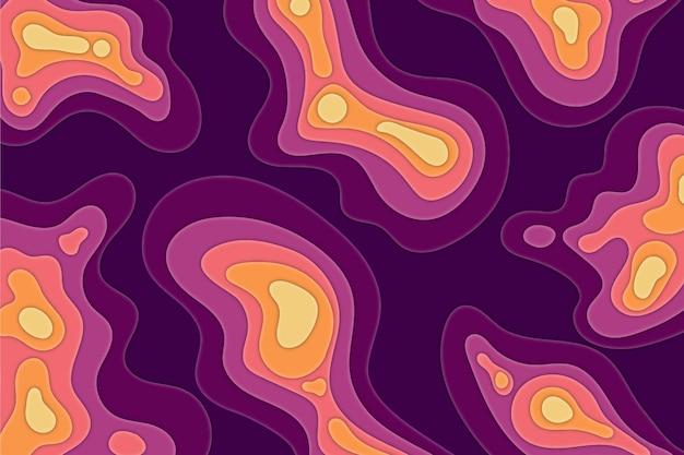 Carte topographique avec différents niveaux de couleur