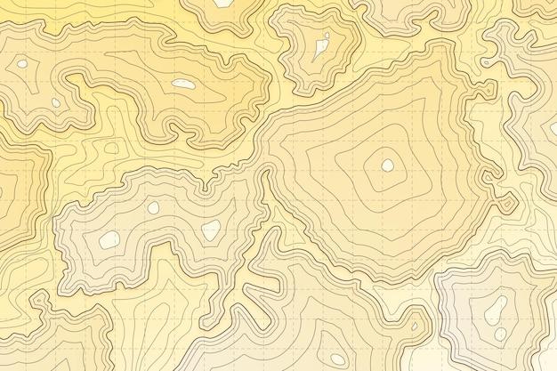 Carte topographique fond abstrait ondulé