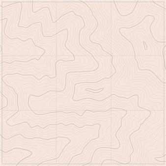 Carte topographique de modèles de carte de ligne de topographie