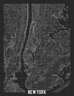 Carte topographique de new york
