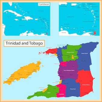 Carte de trinidad et tobago