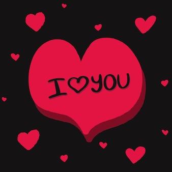 Carte de vecteur d'amour très romantique pour la saint-valentin