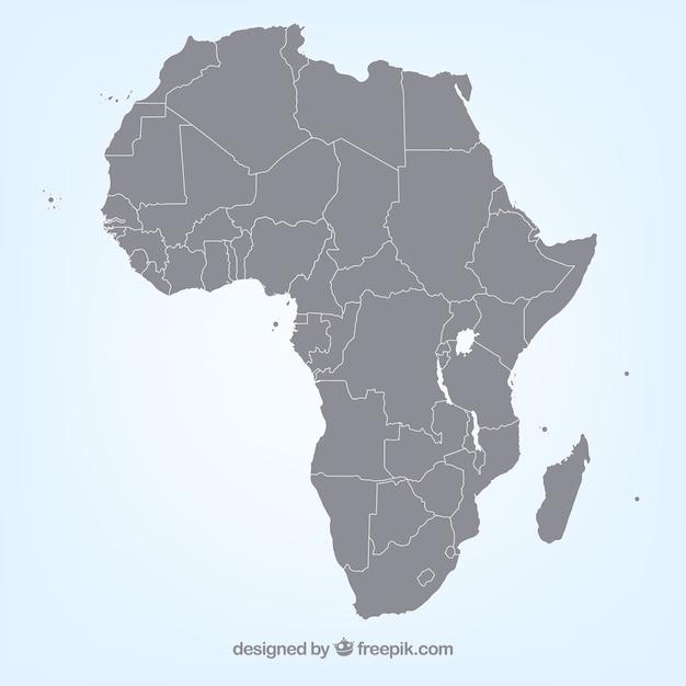 Carte vectorielle en afrique