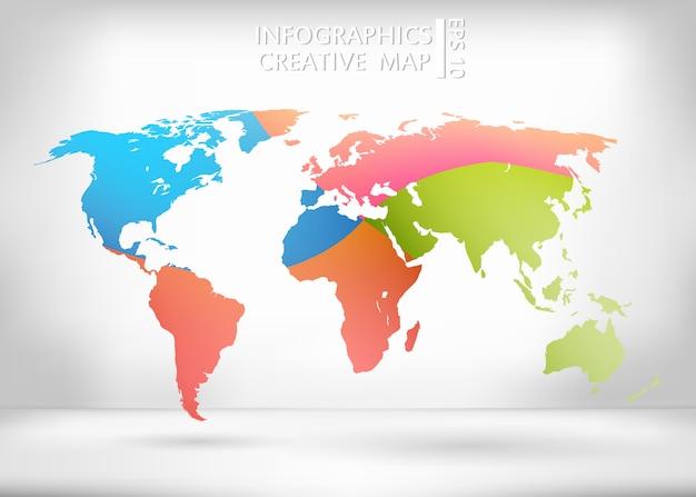 Carte vectorielle créative du monde.