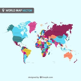 Carte vectorielle du monde