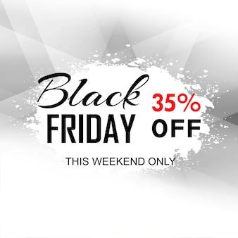 Carte de vendredi noir polygone abstrait