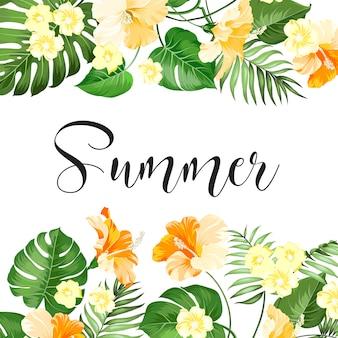 Carte de vente d'été.