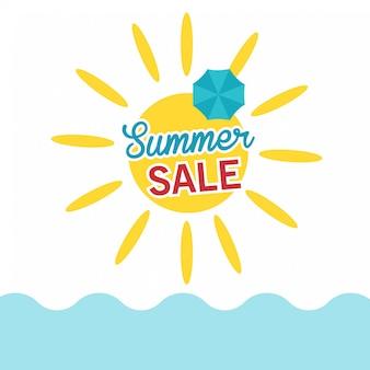 Carte de vente d'été