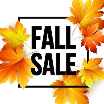 Carte de vente saisonnière d'automne