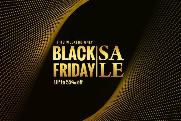 Carte de vente vendredi noir moderne pour vague en pointillé