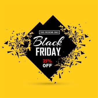 Carte de vente vendredi noir moderne