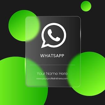 Carte en verre flou transparent whatsapp