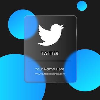 Carte en verre floue transparente twitter