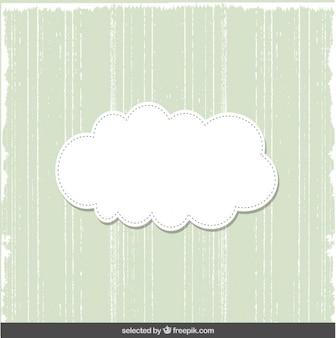 Carte verte mignonne avec le cloud