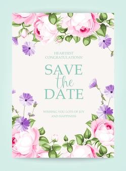 Carte verticale d'invitation.
