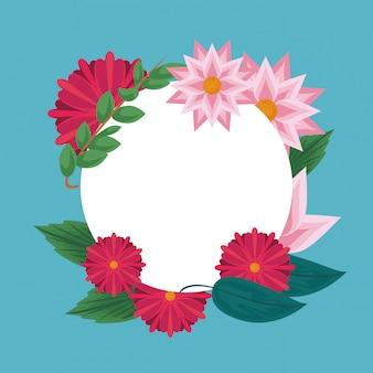 Carte vierge cadre floral