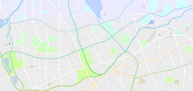 Carte de la ville abstraite