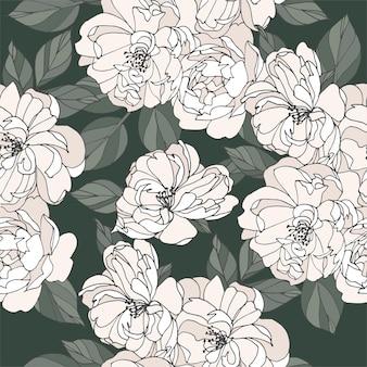 Carte vintage avec des fleurs roses. couronne de fleurs. cadre fleuri pour fleuriste avec des dessins d'étiquettes. carte de voeux rose florale d'été. fond de fleurs pour l'emballage de cosmétiques.