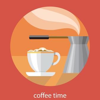Carte vintage de l'heure du café