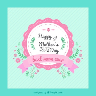Carte vintage jour de mère heureux