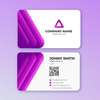 Carte de visite 3d line en violet