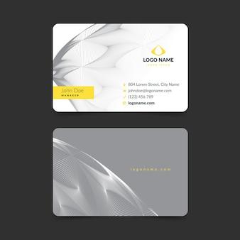 Carte de visite abstraite jaune et grise