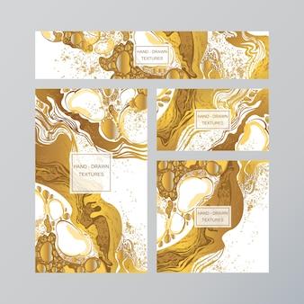 Carte de visite abstraite en marbre