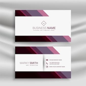Carte de visite d'affaires abstraite avec des formes diagonales