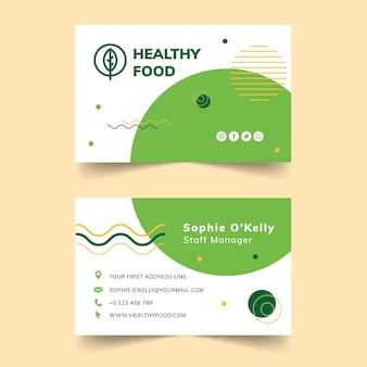 Carte de visite bio et alimentation saine